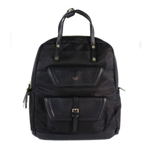 Balo Tutilo New York The Storia Collection Backpack Black Nylon Faux Leather